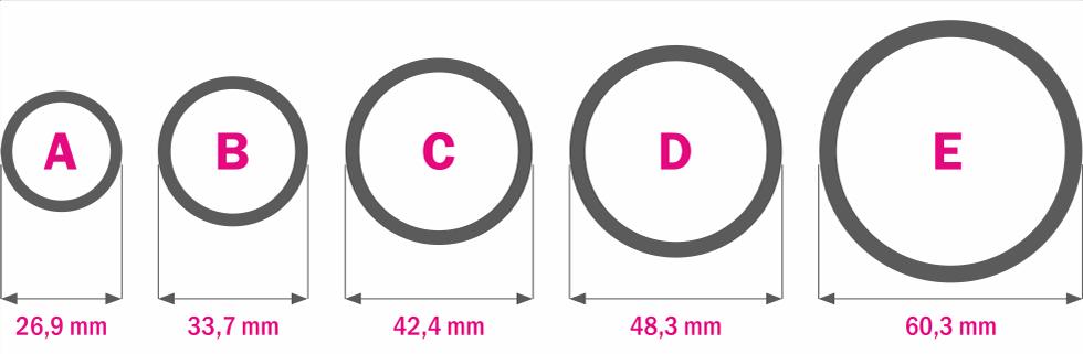 Налични размери фитинги - бързи връзки